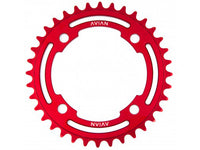Avian 4 Bolt Chainring / Red / 36T