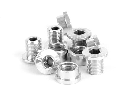 Avian Alloy Chainring Bolts / Polished / Short