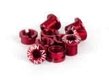 Avian Alloy Chainring Bolts / Red / Short
