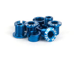 Avian Alloy Chainring Bolts / Blue / Short