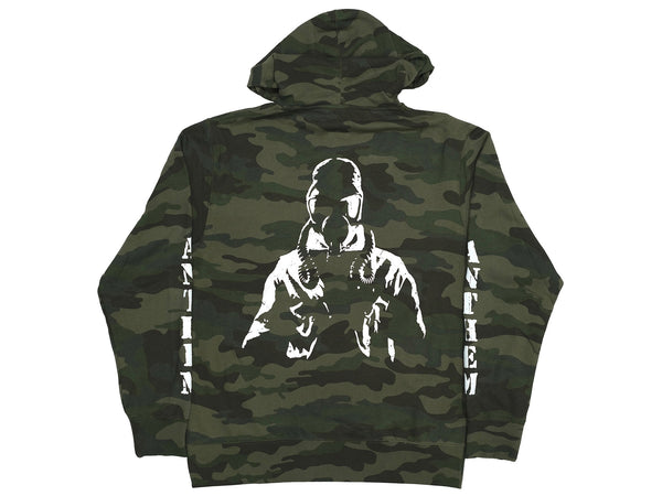 Anthem Zip Up Hoodie / Forest Camo / L