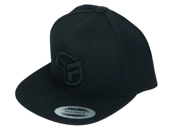 Federal Embroidered Logo Snapback Cap / Black/Black