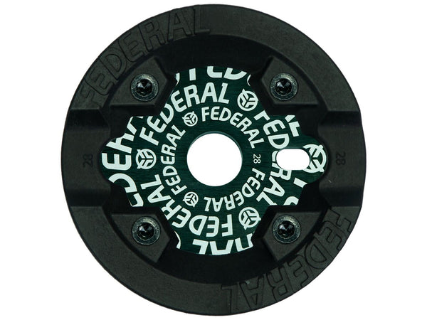 Federal Logo Solid Sprocket With Impact Guard / Black / 28T