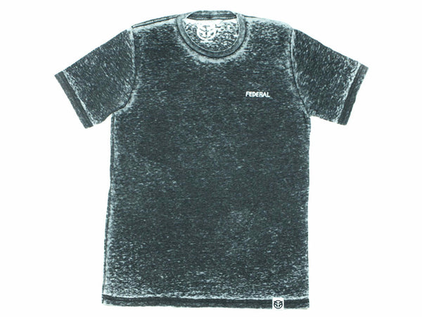 Federal Freehand T-Shirt / Black Acid Wash / L