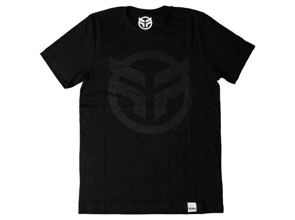 Federal Logo T-Shirt / Black/Black / M