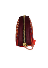 Laden Sie das Bild in den Galerie-Viewer, Makeup bag in synthetic leather with artisan loom