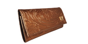 Leather Wallet 101 Cincelado Bronce