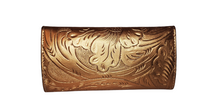 Load image into Gallery viewer, Leather Wallet 101 Cincelado Bronce