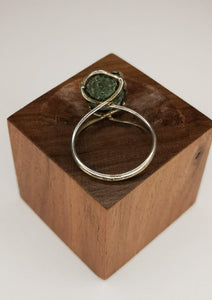 Geode silver ring