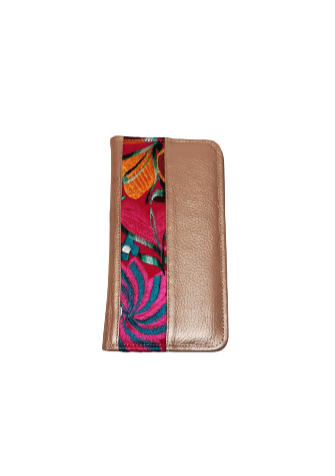 Passport holder pink gold