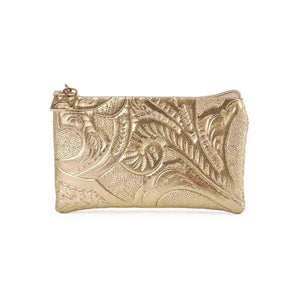 Coin holder with embossed texture