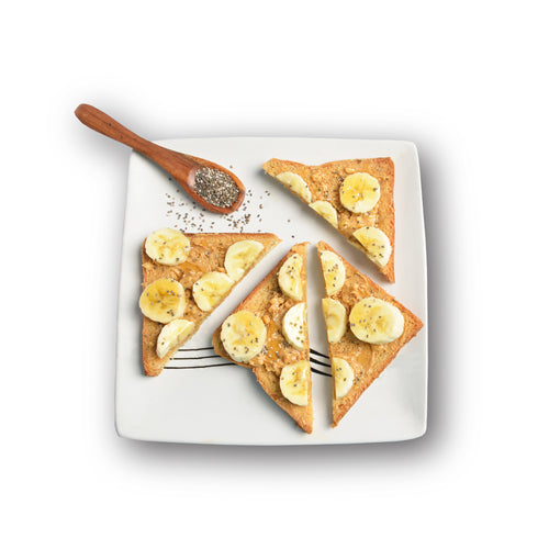 CHIA  BANANA   PEANUT  BUTTER  TOASTIES