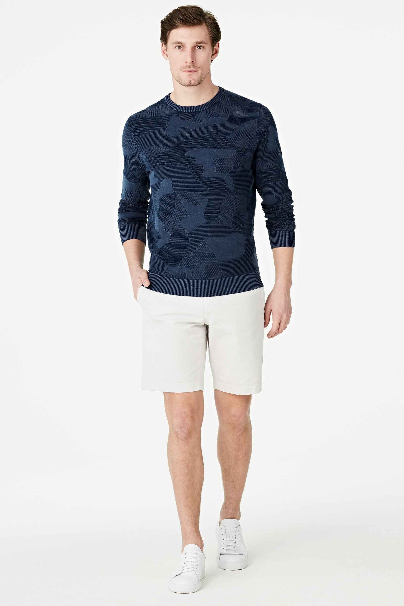 Camouflage Crew Neck Sweater