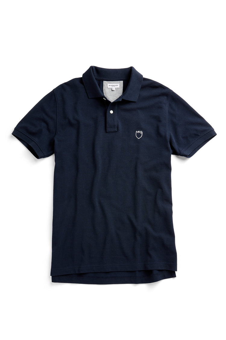 Classic pique polo regular fit met McG shieldlogo