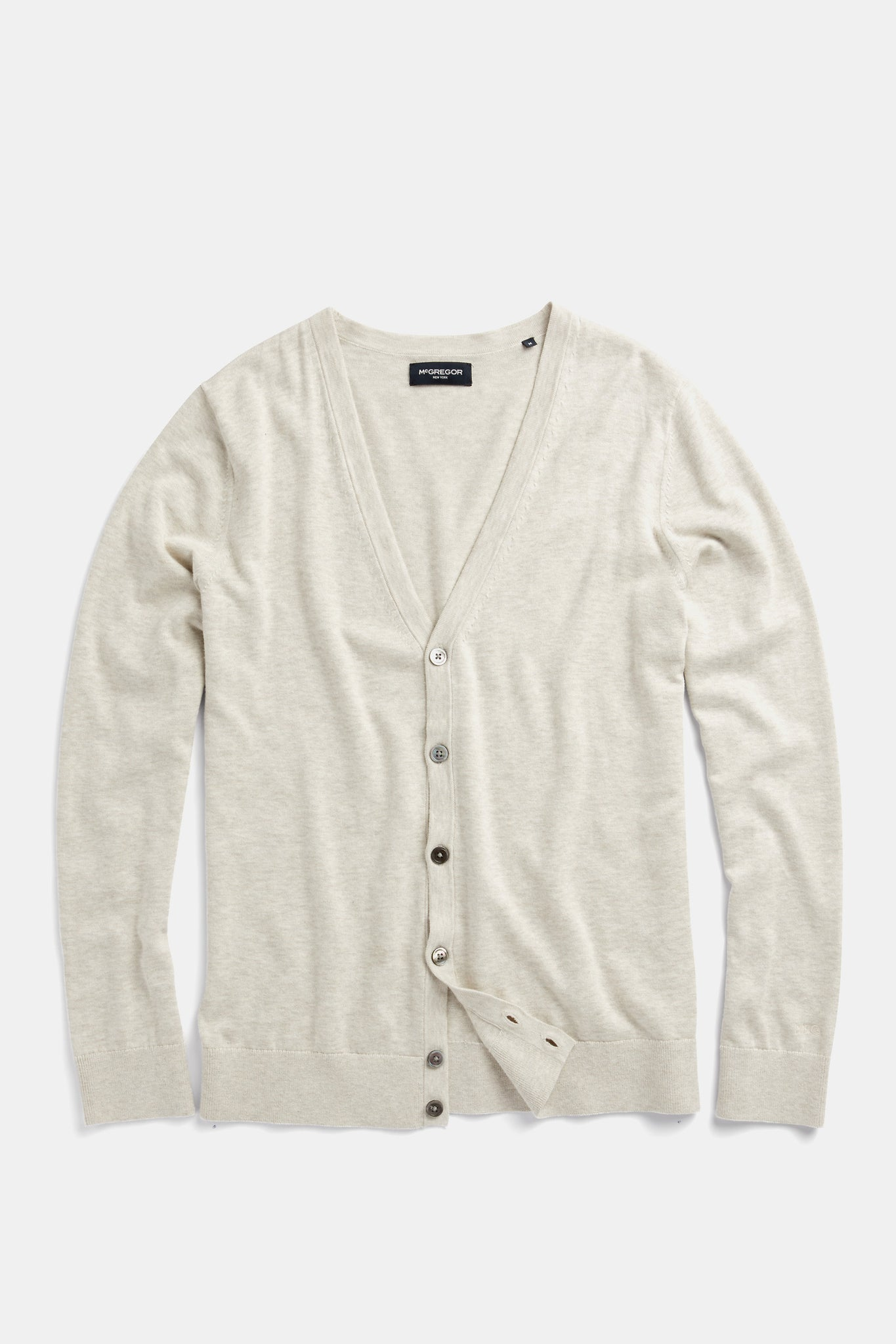 Cotton Silk Button Cardigan