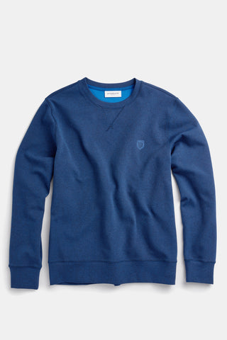 Regular fit sweater met logo en dubbelzijdige stof