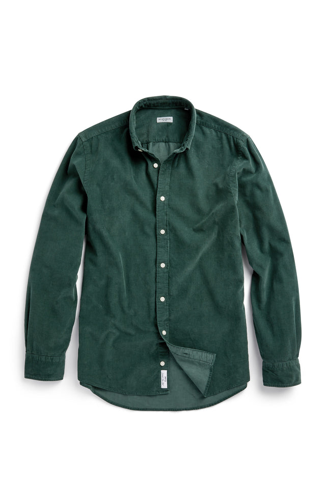 Regular fit button-down overhemd van fijne corduroy