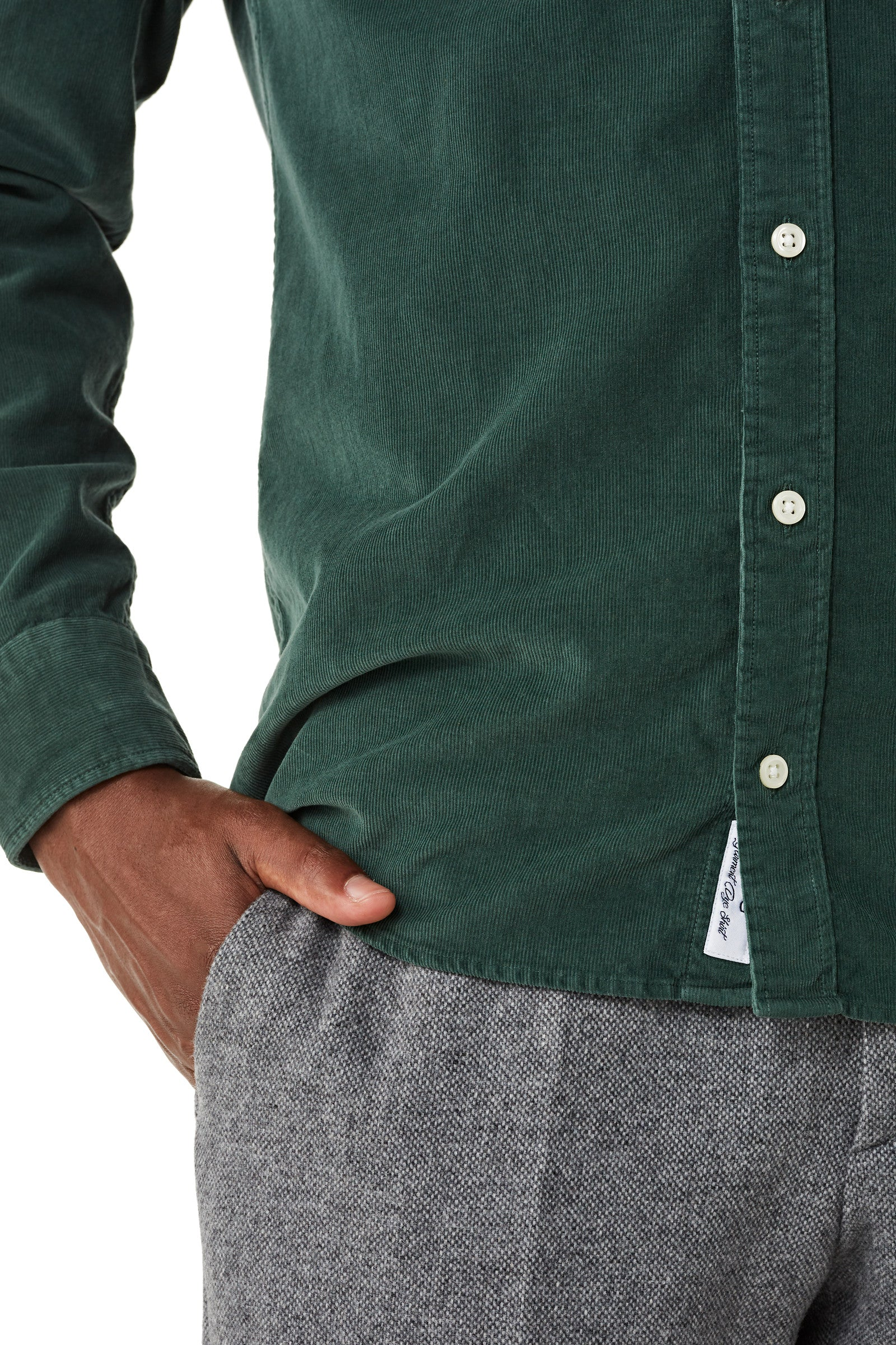 Regular fit overhemd van corduroy