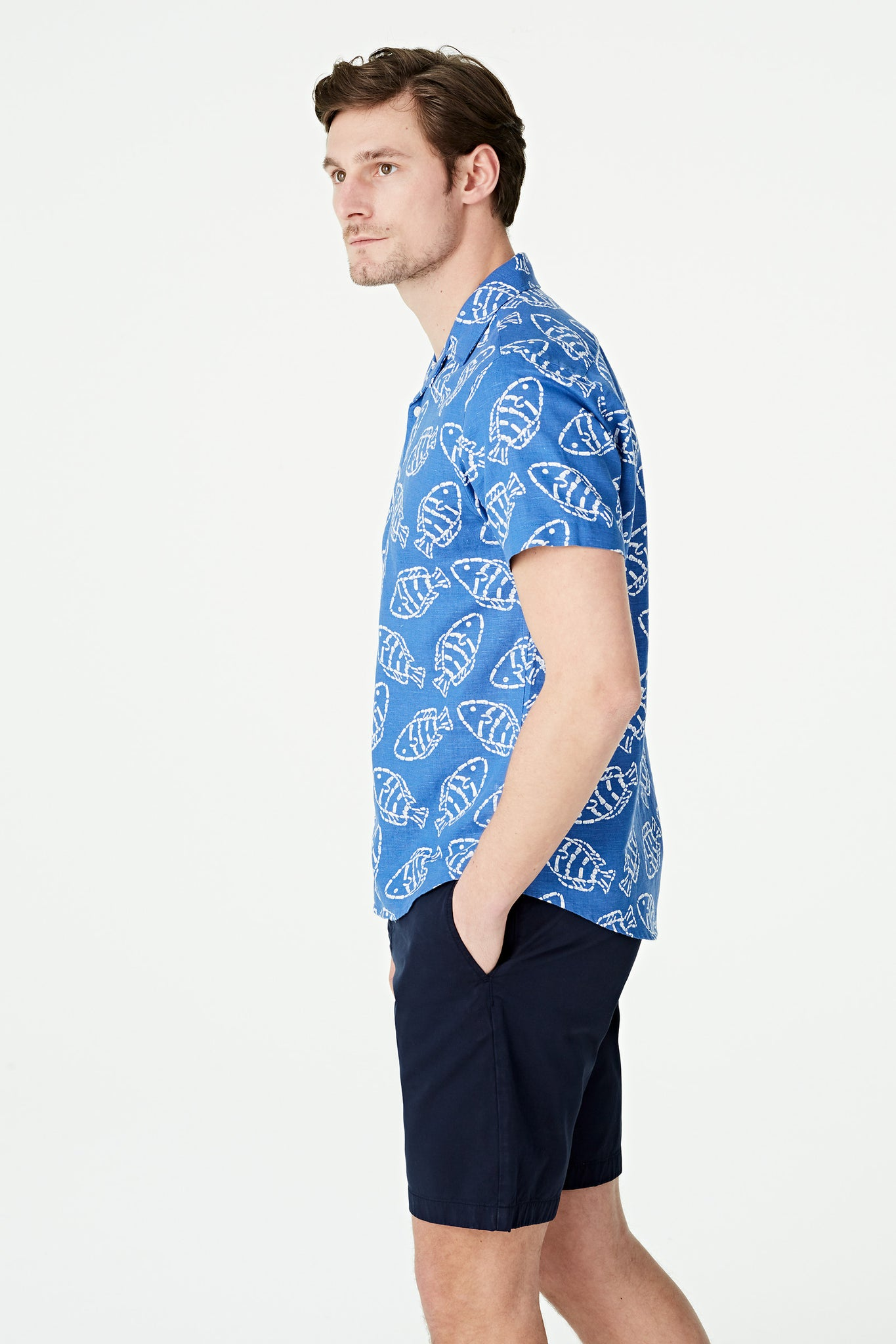 Fish Print Shirt Regular Fit