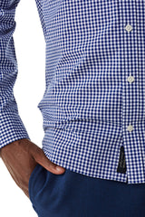 Regular fit overhemd met Gingham ruit
