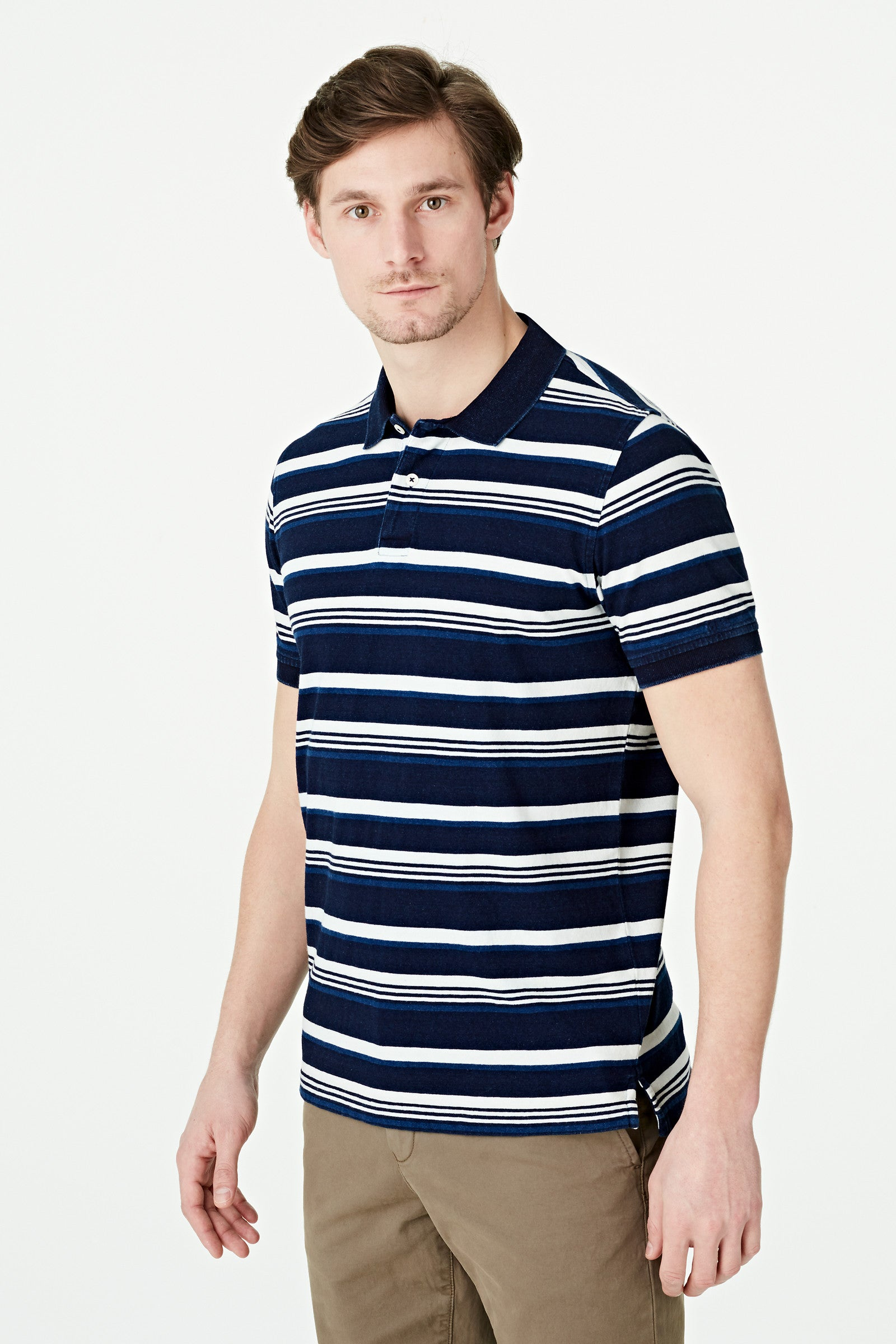 Indigo Stripe Polo Regular Fit