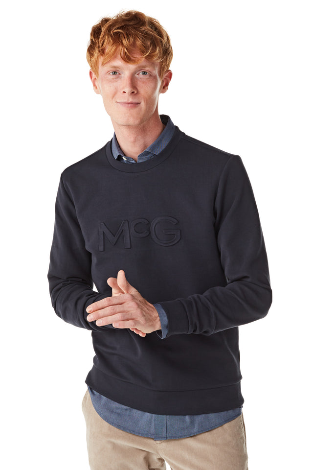 Sweater met embossed McG logo