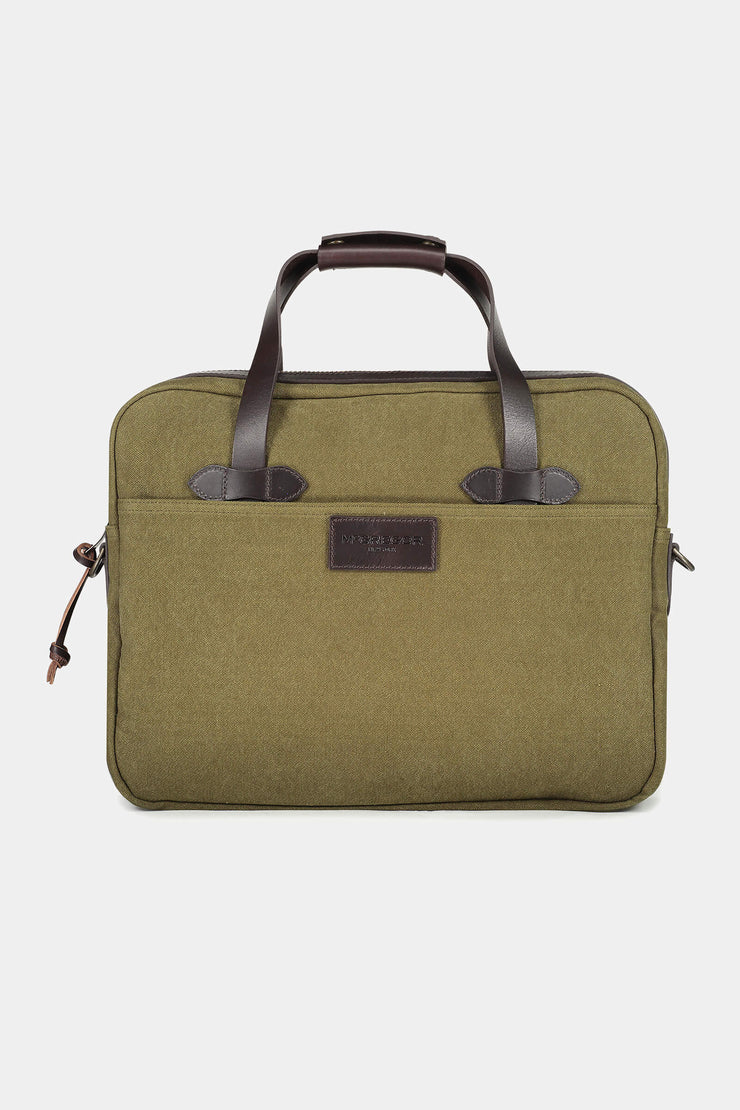 Canvas laptop tas