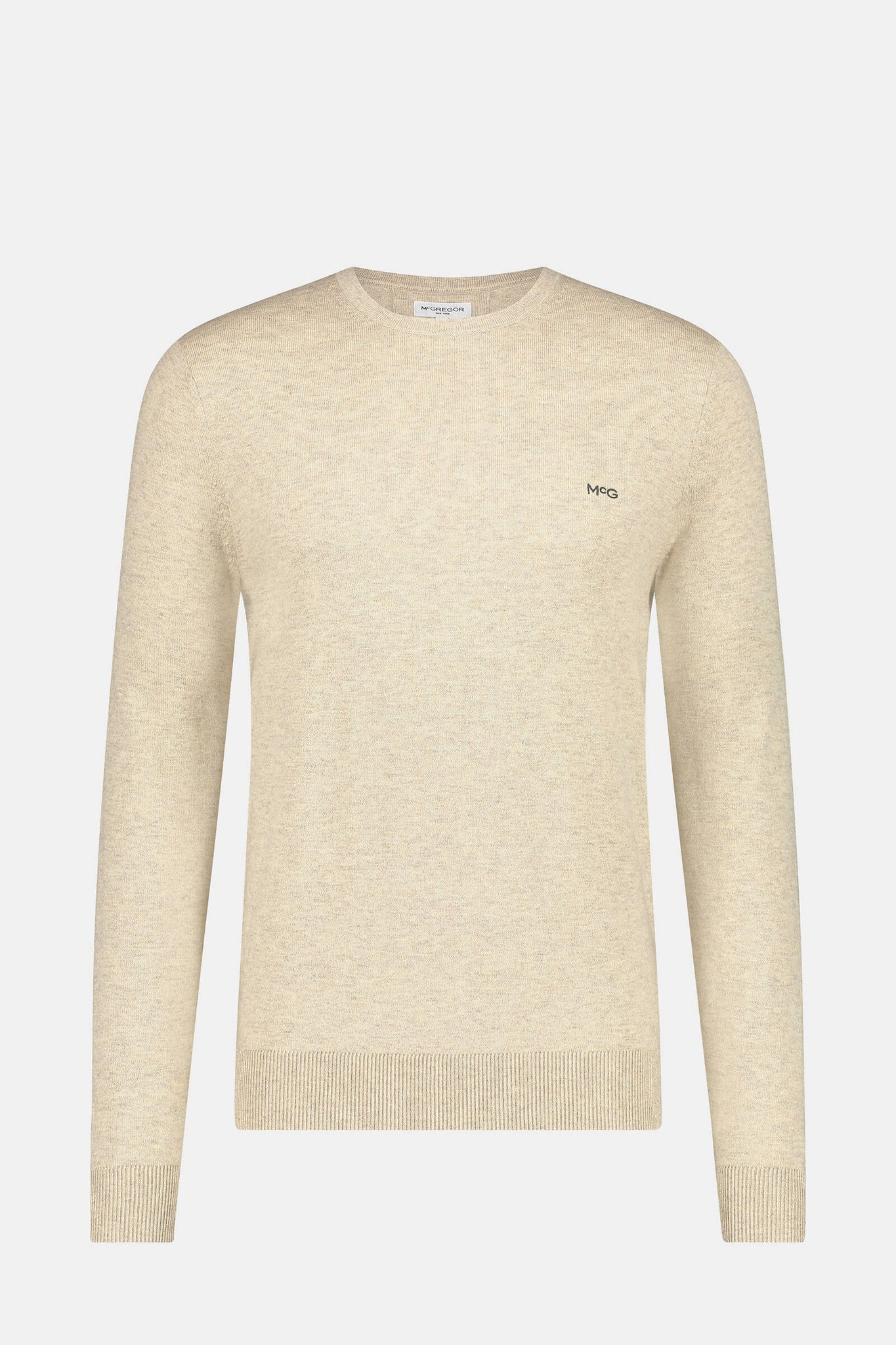Essential crew neck sweater in wool blend