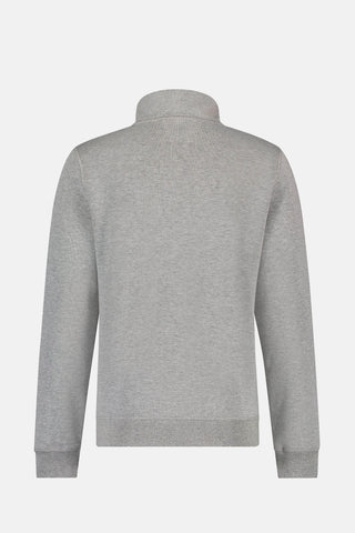 Half zip sweat in dubbelzijdig katoen mix