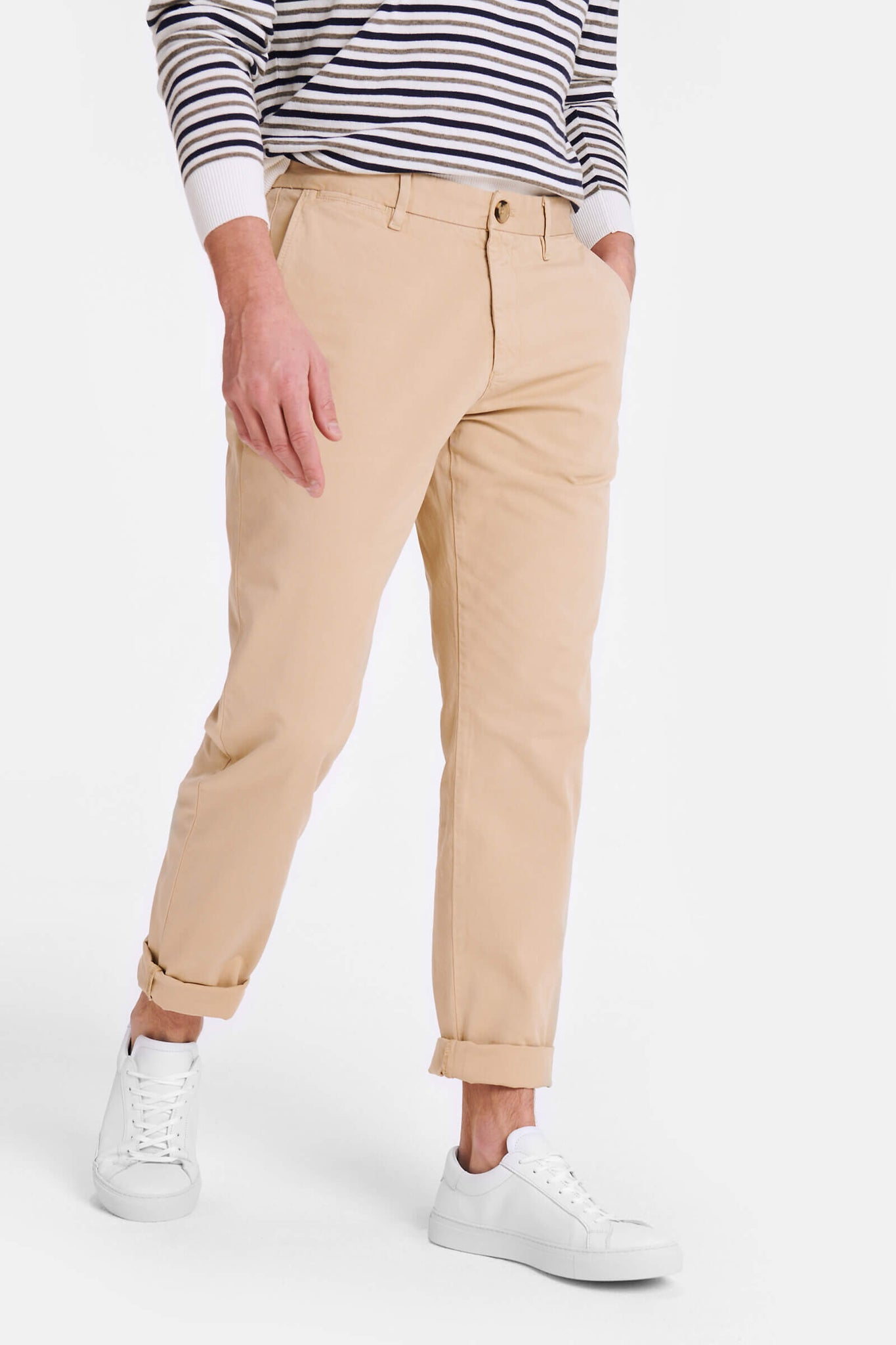 Regular fit Garment dyed chino