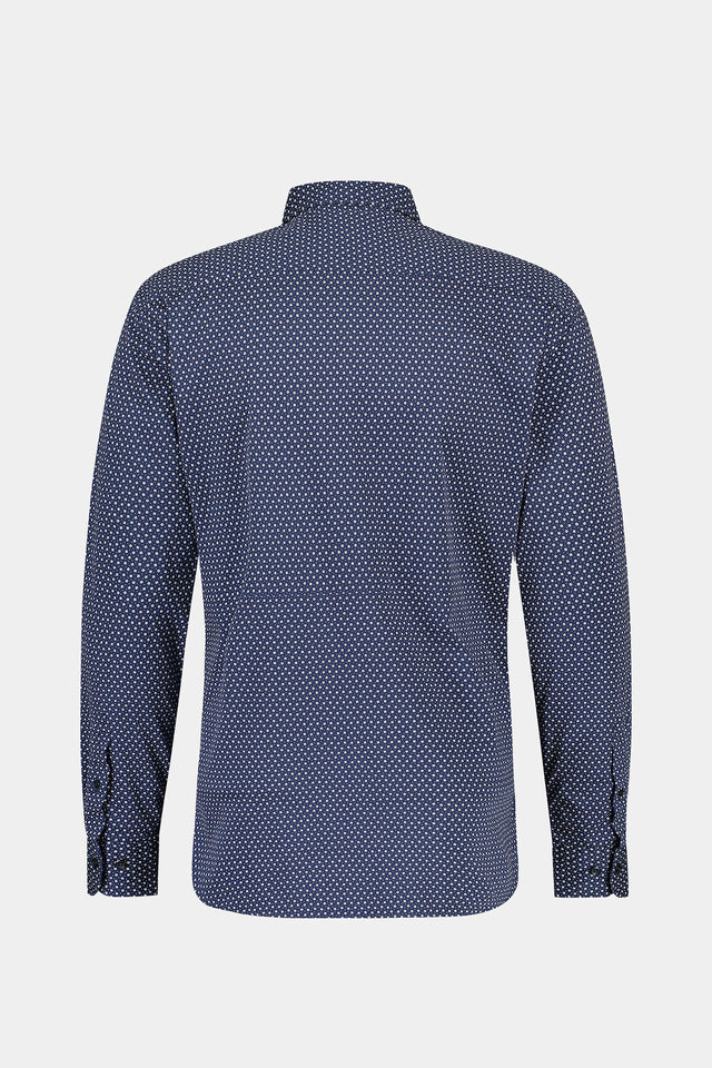 Regular fit jersey overhemd met mini geo print