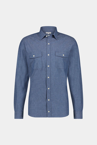 Regular fit Chambray overhemd