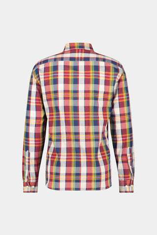 Regular fit vintage madras patroon overhemd