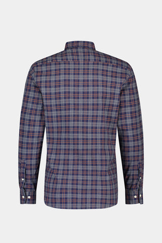 Regular fit overhemd met windowpane ruit