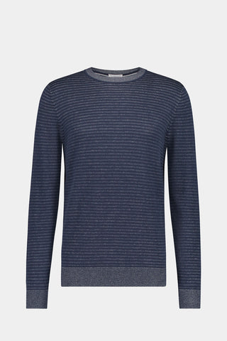 Crew neck sweater met streep patroon