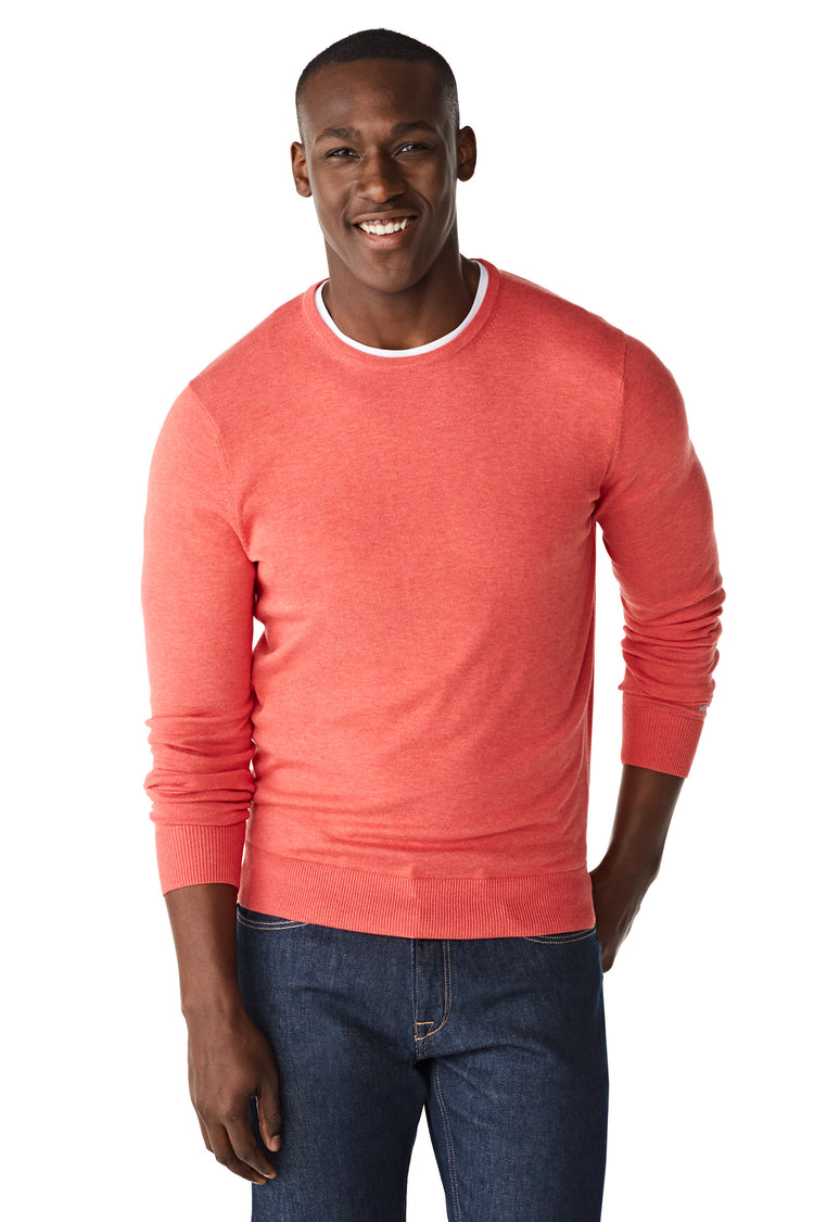 McG Crew neck sweater in katoen zijdeblend