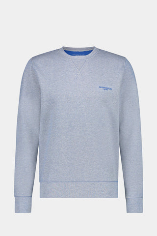 Crew neck sweat in dubbelzijdig katoen mix