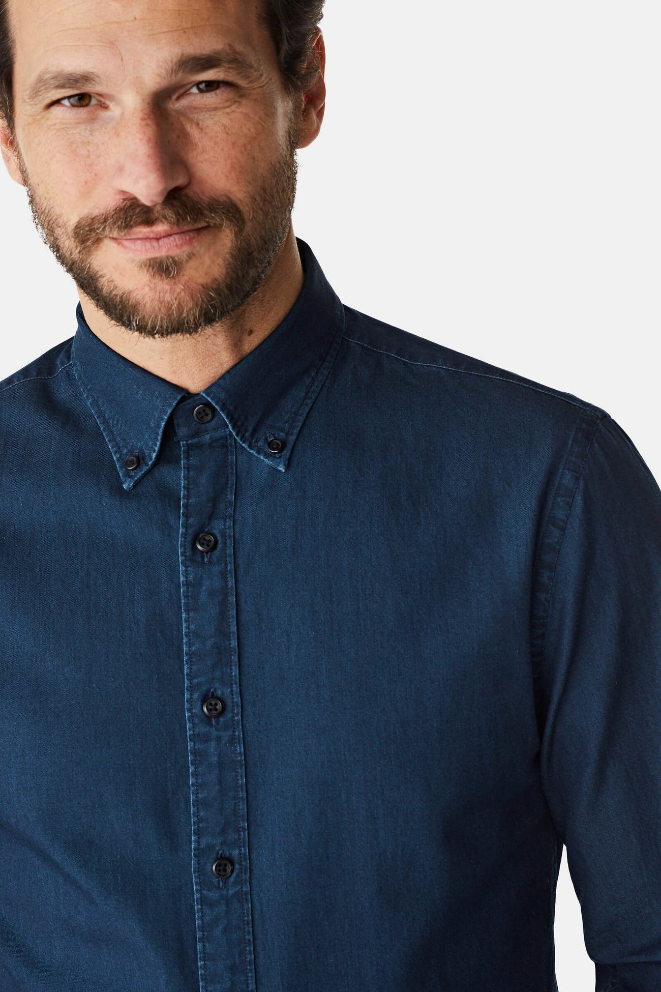 McG Regular fit denim overhemd met button-down kraag
