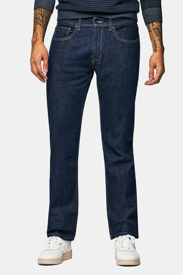 Regular fit jeans in rinse wassing