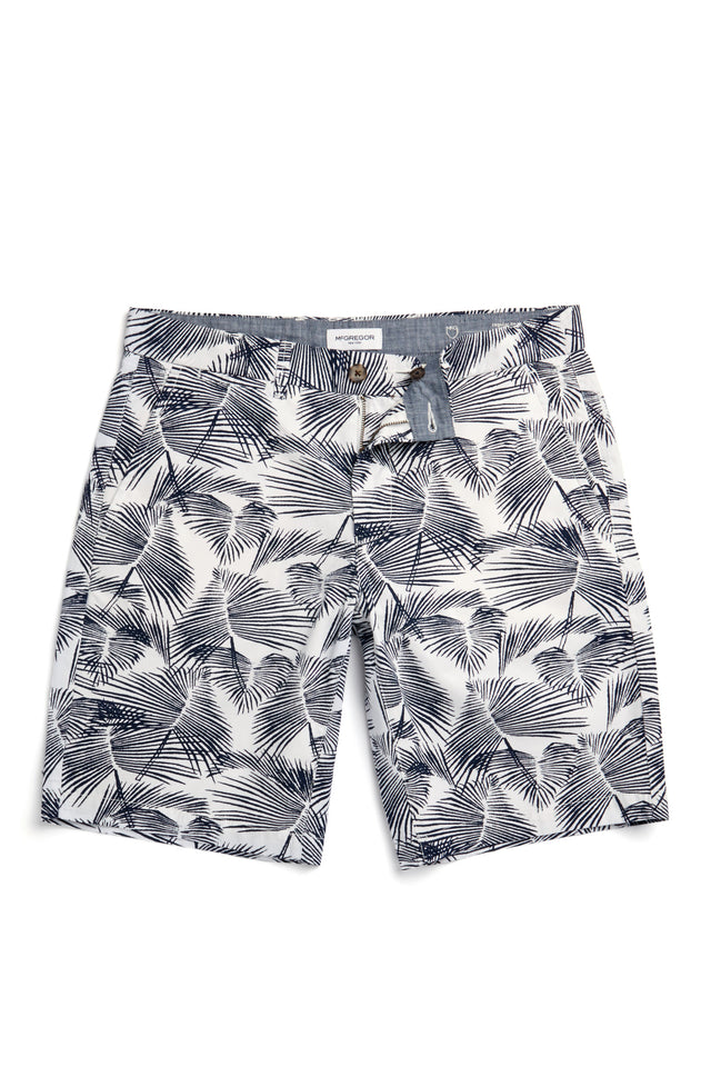 McG Regular fit shorts met palmbladprint