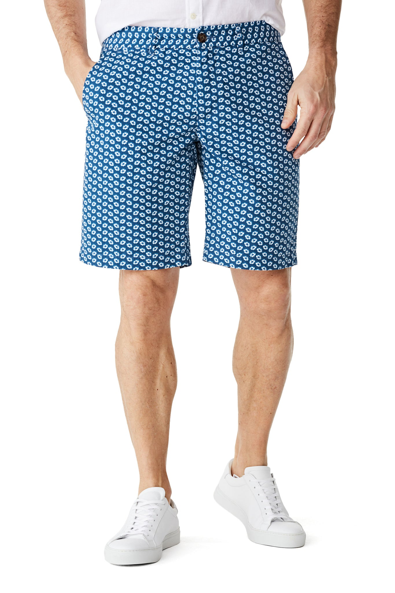 McG Regular fit short met bloemenprint