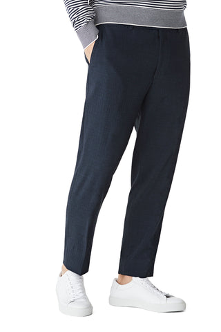 Relaxed fit pantalon in wolblend