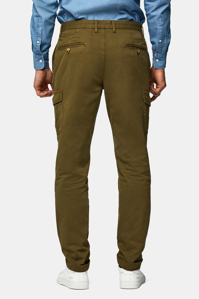 Garment dyed regular fit Cargo chino