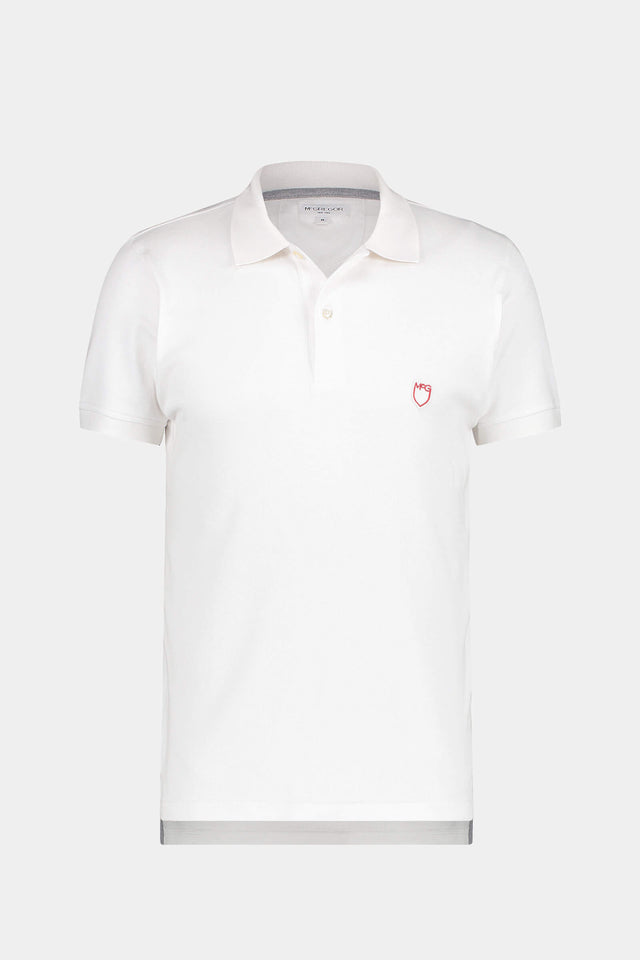 Slim fit pique polo met stretch
