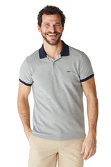 McG Slim fit polo van  gestructureerd twill