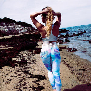 Cotton Candy Dream Exercise Leggings