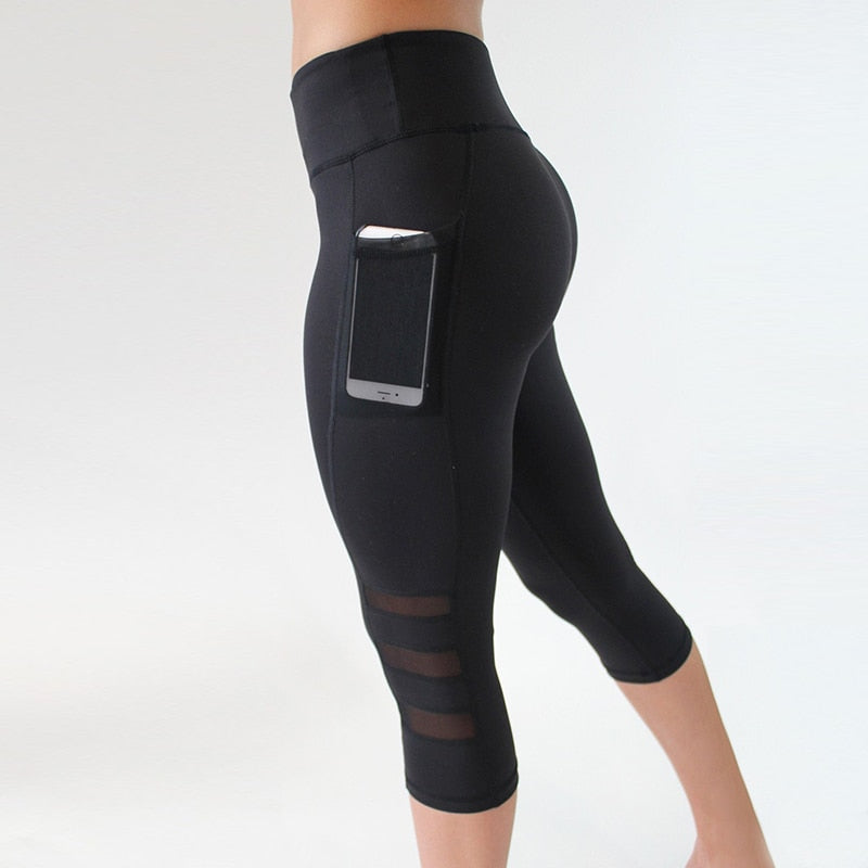 Mesh Workout Capri With Pocket