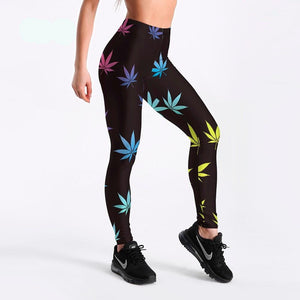 Women's Happy Leaf Leggings