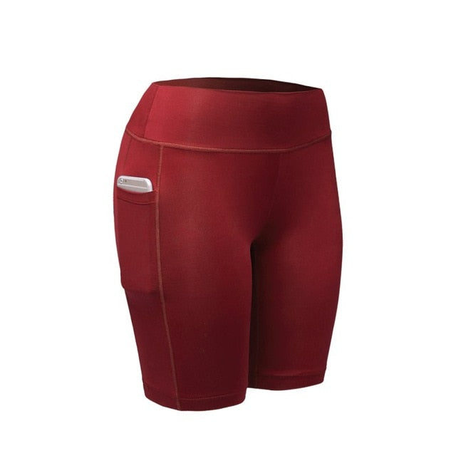 Red Compression Fitness Shorts