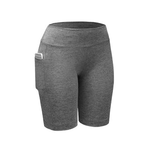 Gray Compression Fitness Shorts